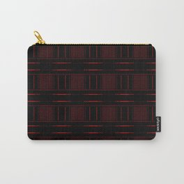 Abstract Red Electric Plaid Pattern Carry-All Pouch