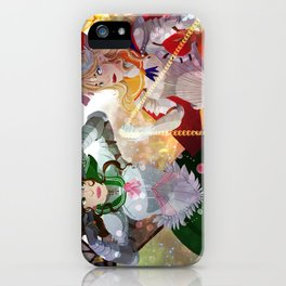 pretty soldier sailor jupiter and venus iPhone Case