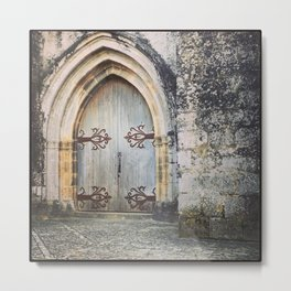 French Chapel Door Metal Print