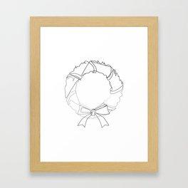 """""""Christmas Collection"""" - Minimal Christmas Wreath Print Framed Art Print"""