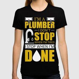 plumber plumber plumber pipe installer Cool T-shirt