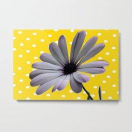 Collage de Flor y diseño Metal Print