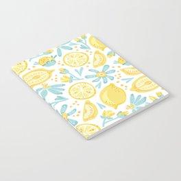 Lemon pattern White Notebook