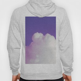Big Fluffy Cloud Against a Purple Sky, Beautiful Cloud and Beautiful Sky Hoody