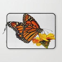 Monarch Butterfly on Zinnia Flower Laptop Sleeve