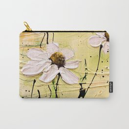 Green poesie floral painting Carry-All Pouch