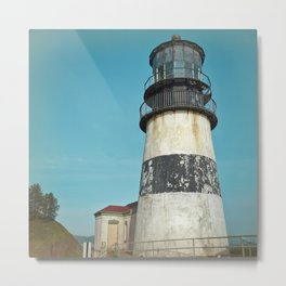 Cape Disappointment Pacific Ocean Washington Northwest Lighthouse Coast Guard Boats Gothic Architect Metal Print