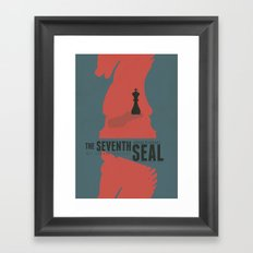 The Seventh Seal - Classic Bergman Movie Poster Framed Art Print