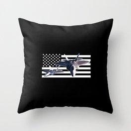 F-22 (Black Flag) Throw Pillow