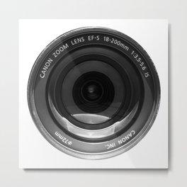 The Lens   White Metal Print