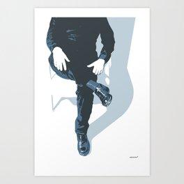 Man In Blue Art Print