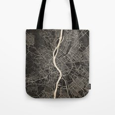 budapest map ink lines 2 Tote Bag