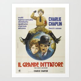 Carlie Chaplin Movie Poster Art Print
