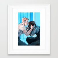 bucky Framed Art Prints featuring Finding Bucky by Misadventural Central