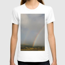 Double Rainbow on the Side Less Traveled T-shirt