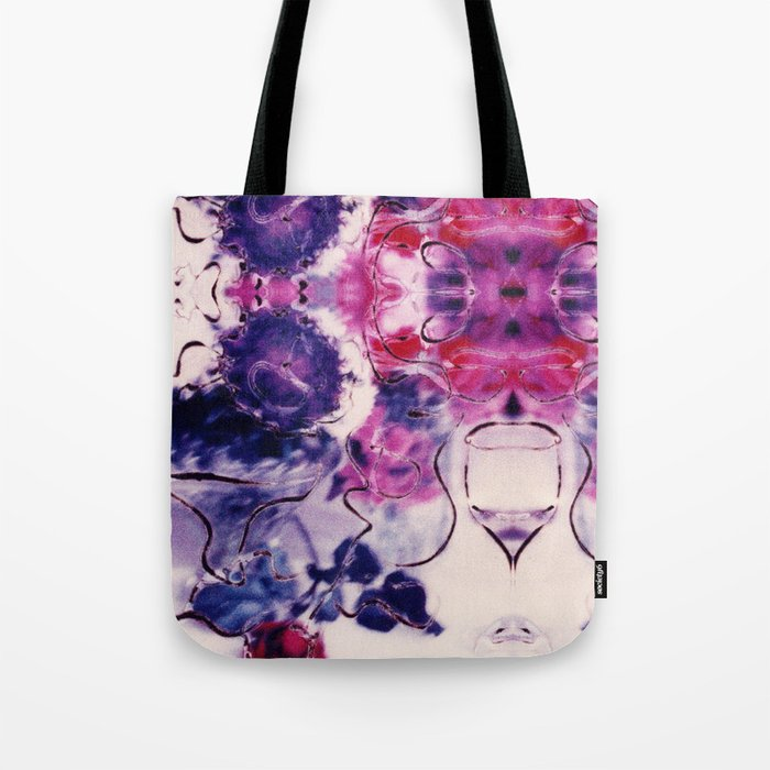 Wine & Flowers Photographic Pattern #2 Tote Bag