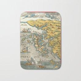 Map Of Corfu 1690 Bath Mat