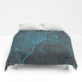 Saint Louis Map Comforters
