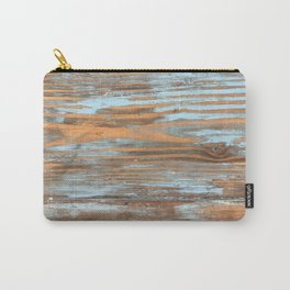 Vintage Wood With Color Splashes Carry-All Pouch