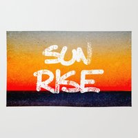 sunrise Area & Throw Rugs featuring Sunrise by Alexandre Reis