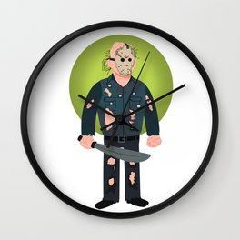 Jason Voorhees Friday the 13th Part 9 Wall Clock