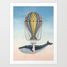 Whale And Bird Art Print