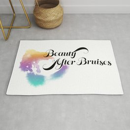 Beauty After Bruises (Black) Rug