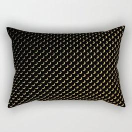 Gold half moons on black Rectangular Pillow