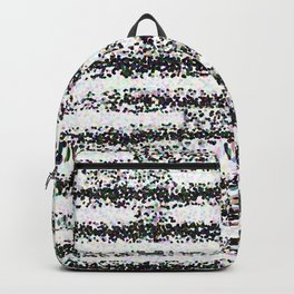 A Pointillist Arrangement of Black and White Backpack