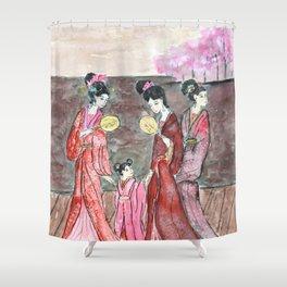 Four ancient Oriental beauties Shower Curtain