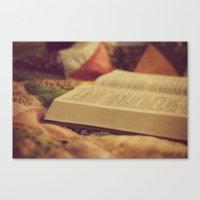 bible Canvas Prints featuring Bible by KimberosePhotography