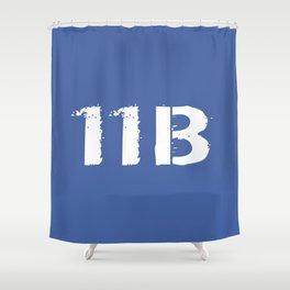 11B Infantryman (Blue) Shower Curtain
