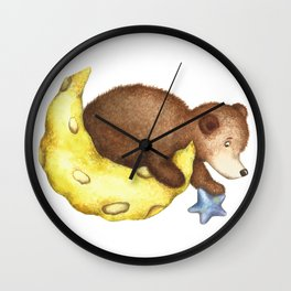 Teddy Bear Stars Wall Clock