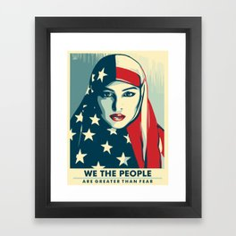 We The People Framed Art Print