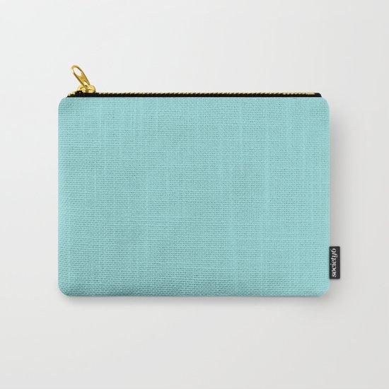 Aqua Shell (Blue) Color Carry-All Pouch