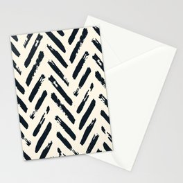 Retro Chevron Pattern 02 Stationery Cards