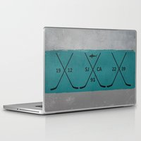 sharks Laptop & iPad Skins featuring Sharks by Last Call
