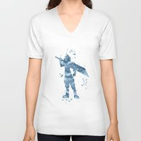 final fantasy V-neck T-shirts featuring Cloud Final Fantasy  by Carma Zoe