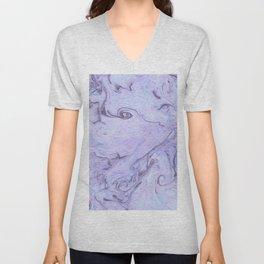 Marbly Lavender Unisex V-Neck
