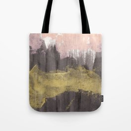 Black / Pink / Gold Tote Bag