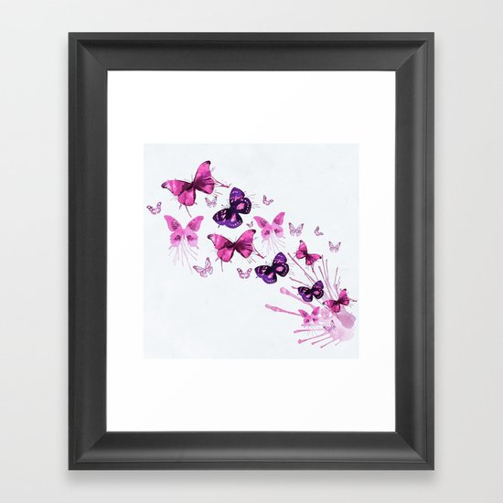Beautiful Pink and Purple Butterflies by hommie
