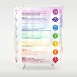 Seven Chakra Poster #37 Shower Curtain