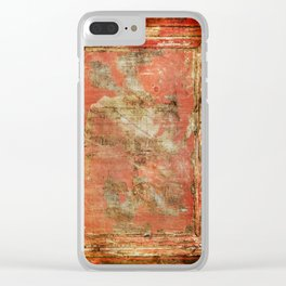 Red Panel Clear iPhone Case