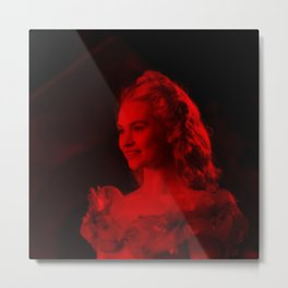 Lily James - Celebrity (Photographic Art) Metal Print