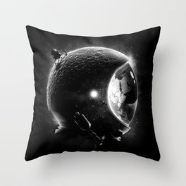 Moon's Helmet Throw Pillow
