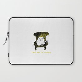 Hands are for Stroking (Yellow) Laptop Sleeve