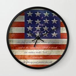 Pledge Wall Clock