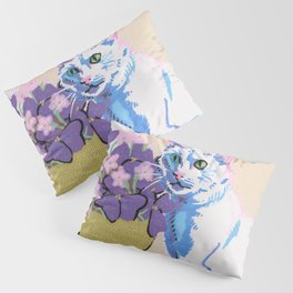 Purple Clover Pillow Sham