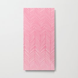 Freeform Arrows in lipstick Metal Print