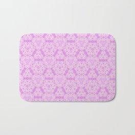 Delicate Pink Lavender Pattern Design Bath Mat